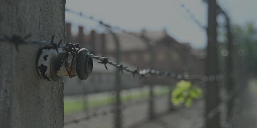 Auschwitz- Brikenau Concentration Camp view from the wall
