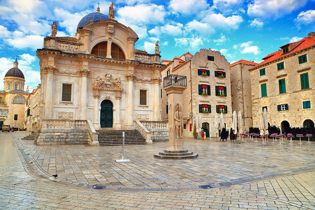 The Square of the Loggia is the lifeblood of activity in Dubrovnik